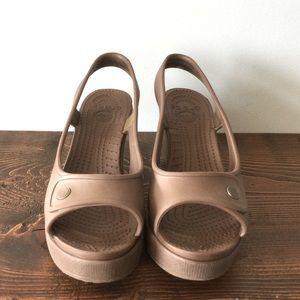 Crocs Sandals Brown Size 6